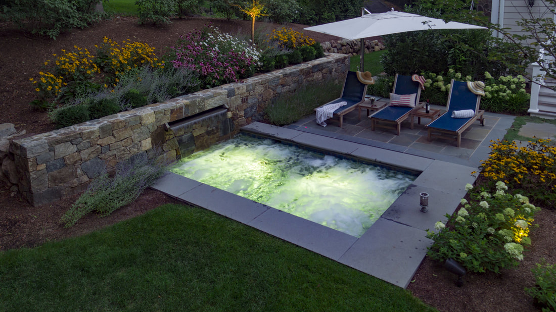 Aerial Drone Shoot of Backyard HotTub or Spa