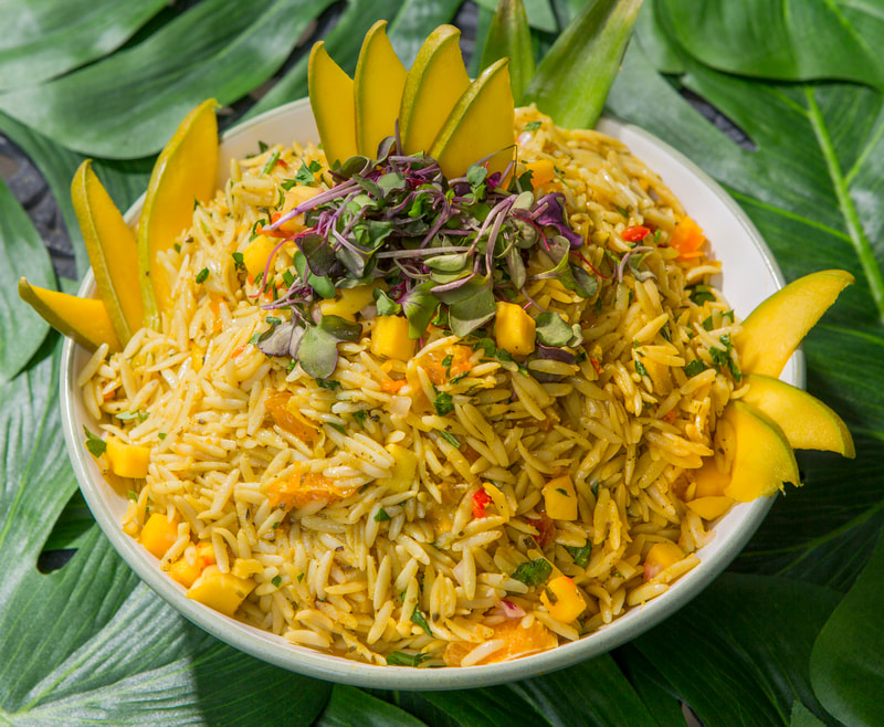 Caribbean Rice & Vegetables made with Bazodee Marinade